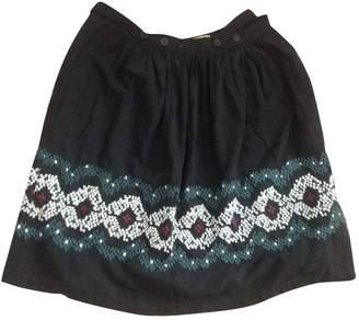 Bel Air Black Silk Skirt for Women