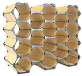 HexoShelf Wine Rack, Bottle Holder, Wine Cabinet | Store Wine, Supplies, and More! | Made With Elegant Birch Wood | Customize For Your Needs (Hexo 18)