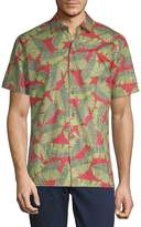 Saks Fifth Avenue Men's Hawaii-Print Cotton Button-Down Shirt