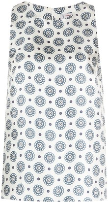 Alberto Biani Geometric-Pattern Sleeveless Blouse