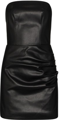 De La Vali Connie faux leather mini dress
