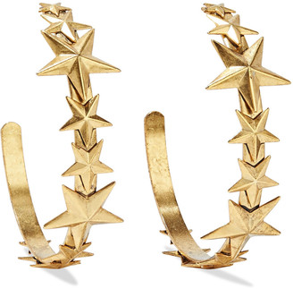 Elizabeth Cole Tristan 24-karat Gold-plated Hoop Earrings