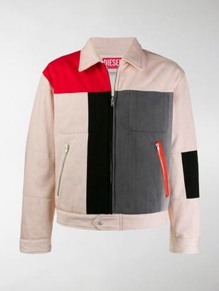Diesel Red Tag Denim Colour-Block Jacket