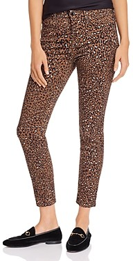 7 For All Mankind Jen7 by Skinny Ankle Jeans in Wild Cheetah