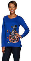 Quacker Factory Witching Hour Sequin and BeadedLong Sleeve