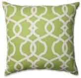 "Pillow Perfect, Inc. Lattice Damask Blue 18"" Throw Pillow, Leaf"