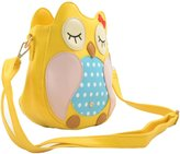 Katia Girl's Owl Cross Body Shoulder Bag - Night Owl Shape PU Cross Body Bag / Owl Faux Leather Shoulder Bag / Cross Body Bag / Clutch Purse Shoulder Bag