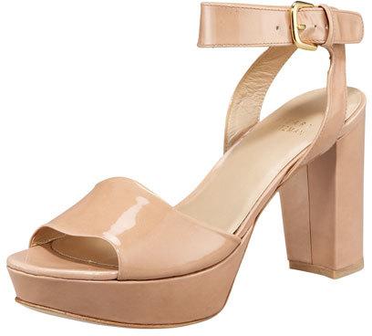 Stuart Weitzman Realdeal Patent Platform Sandal