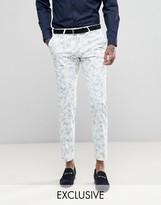 Noose & Monkey Super Skinny Wedding Suit Trouser In Flocking