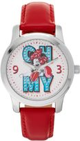 "Disney's Minnie Mouse ""Oh My"" Women's Leather Watch"