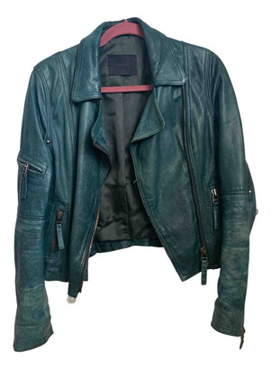 Gestuz Green Leather Jackets
