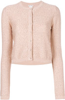 Oscar de la Renta sparkly cropped cardigan - women - Silk/Cotton/Polyester - XS