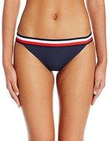 Tommy Hilfiger Women's Signature Stripe Elastic Strap Bikini Bottom