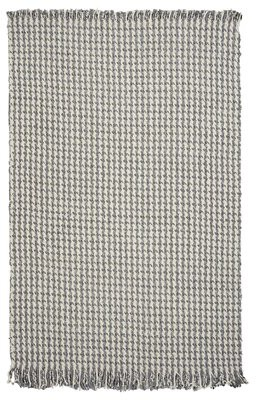 "Hogan Gracie Oaks Houndstooth Hand-Woven Wool Beige/Gray Area Rug Gracie Oaks Rug Size: Rectangle 3'3"" x 5'3"""