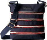 Tommy Hilfiger Canvas Flag North/South Crossbody Canvas w/ Sequin
