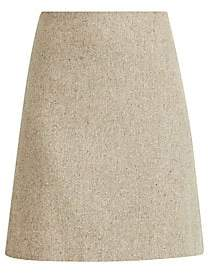 Theory Women's Easy Waist Recycled Wool-Blend A-Line Skirt