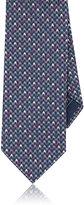 Brioni Men's Houndstooth Jacquard Silk Necktie-LIGHT PURPLE