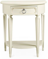 Stone & Leigh Fluted Single Drawer Nightstand, White