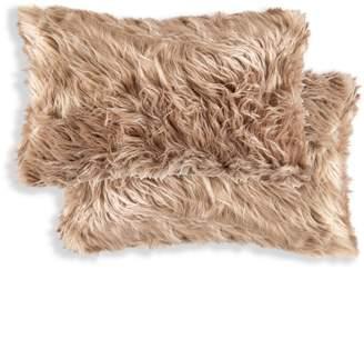Luxe Faux Fur Belton 2-Pack Rectangular Faux Fur Pillow Set