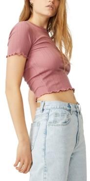 Cotton On Little Sister Pointelle T-Shirt