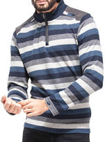 Point Zero Striped Quarter-Zip Top