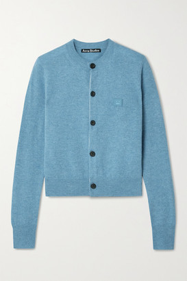 Acne Studios Appliqued Wool Cardigan - Light blue