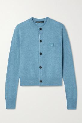 Acne Studios - Appliqued Wool Cardigan - Light blue