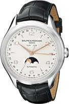Baume & Mercier Baume Mercier Men's BMMOA10055 Clifton Analog Display Swiss Automatic Black Watch