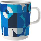 Marimekko Ruutu-Unikko Mug - Blue/White