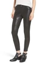 Hue Women's Moto Leatherette Skimmer Leggings