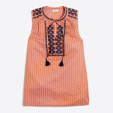 J.Crew Factory Printed embroidered tank top