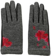Desigual Gloves Red Flowers