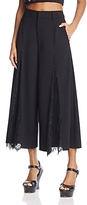 Alice + Olivia Onell Lace-Inset Gaucho Pants