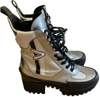 Louis Vuitton Laureate ankle Silver Leather Ankle boots
