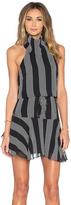 Shona Joy Sumatra High Neck Mini Dress