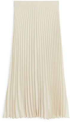 Arket Pleated Crepe Skirt