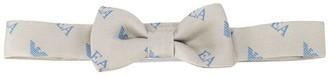 Emporio Armani Kids Logo-Print Silk Bow Tie