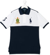 Ralph Lauren bicolour logo polo shirt