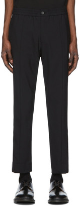 Solid Homme Black Piping Trousers