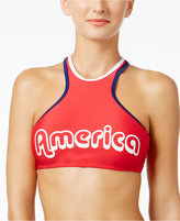 California Waves America High-Neck Bikini Top Women's Swimsuit