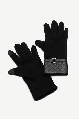 Ardene Faux Leather Trim iPhone Gloves - Accessories |