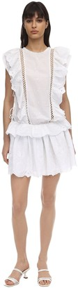 Cc By Camilla Cappelli Clotilde Embroidered Cotton Mini Dress