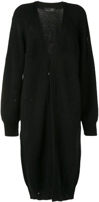 Y's Oversized Distressed Knit Cardigan