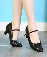 Ydancer YDANCER Women's Pumps Black - Black Patent Leather Mary Jane - Women
