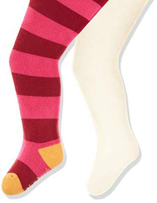 Playshoes Baby warme Thermo-Strumpfhosen Block-Ringel Tights,62/68 (pack of 2)