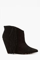 Nasty Gal Ziah Fringe Boot - Black Suede