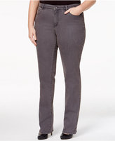 Charter Club Plus Size Lexington Embellished Straight-Leg Jeans, Only at Macy's