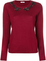 P.A.R.O.S.H. embroidered knitted top