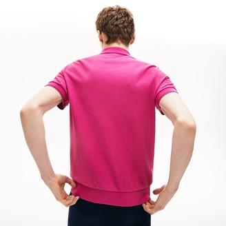 Lacoste Men's Cotton-Silk Pique Polo Shirt