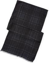 Ralph Lauren Purple Label Plaid Cashmere-Silk Scarf